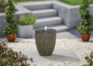 H51cm Tumbled Stone Water Feature with Lights
