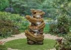 H100cm Nootka Springs Cascading Log Water Feature with Lights