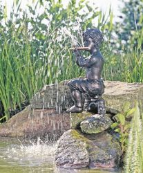 Oliver the Flautist Water Feature