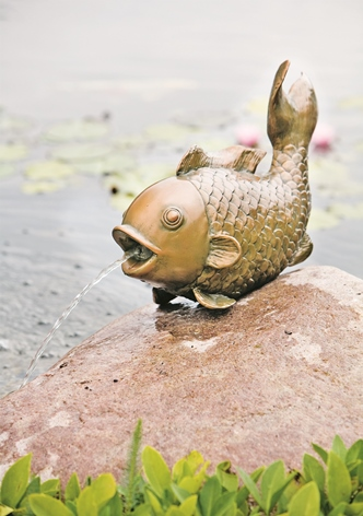H29cm Big Fish Spouting Water Feature