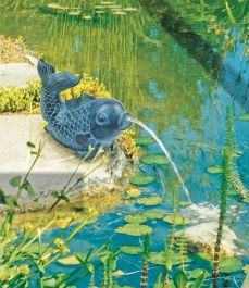 L18cm Little Fish Spouting Water Feature