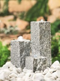 H35cm Neptune Granite Water Feature Trio with Lights
