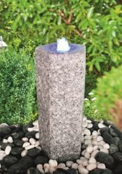 Quintus Real Granite Fountain Set with LED light