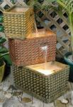 Cheltenham Three Tier Square Basket Water Feature With Led Light