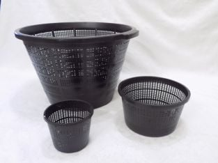 40cm Dia Jumbo Pond Basket in Black
