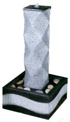 Granite Effect Pillar Water Feature With LED Lights
