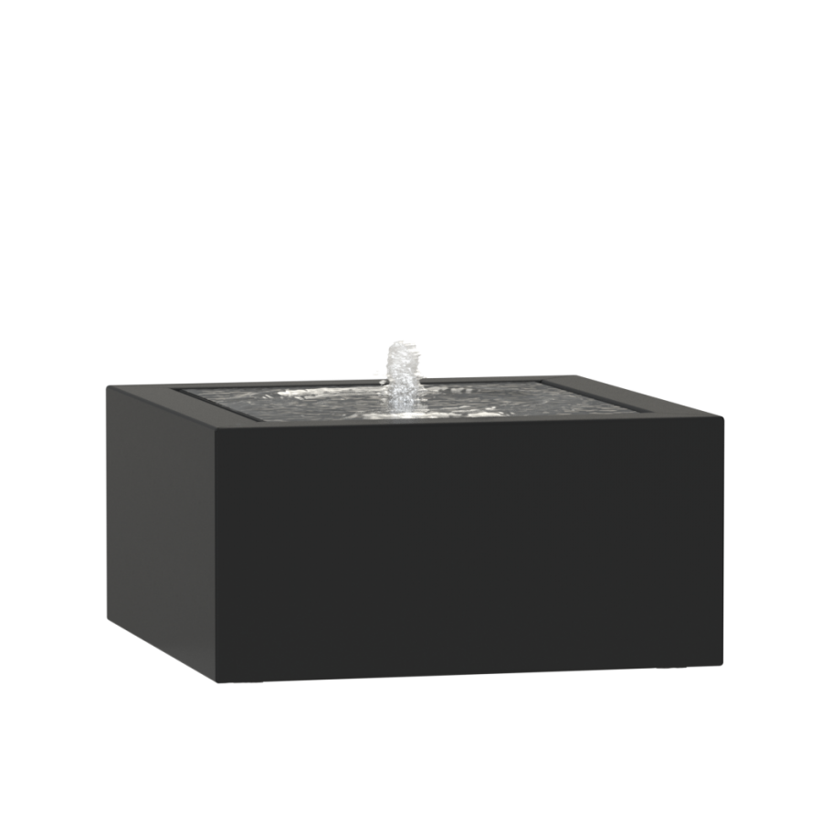 1.2m (3ft 11in) Aluminium Table Water Feature, 1 Fountain In Black