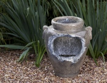 Complete Patio Liberty Urn Waterfall Feature with Remote Control and Wireless