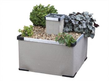 Aluminium and Textaline Liberty Garden and Patio  Water Feature and Planter in Sand Finish