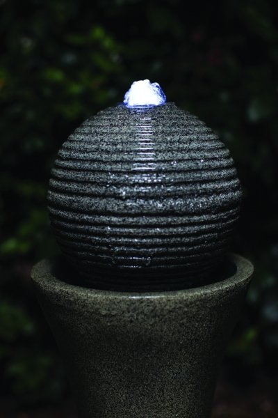Liberty Ball and Pedestal Mains Free Water Feature