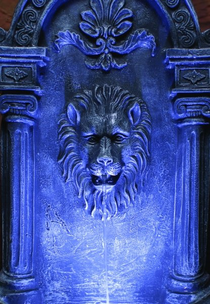 Liberty Lion Wall Fountain Mains Free Water Feature 163 179 99