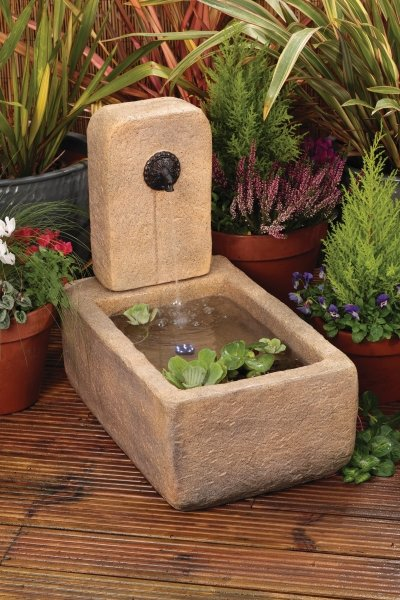Liberty Stone Trough & Tap Water Feature