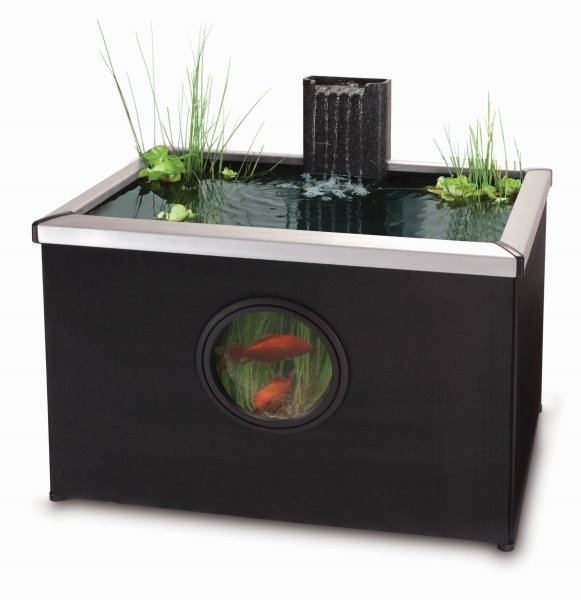 Affinity Rectangle Pool - Black Aluminium