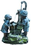 Cascading Boy and Girl Playtime Garden Water Feature