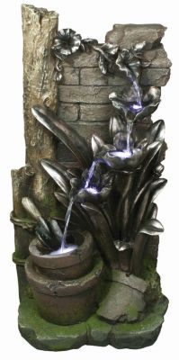 Enchanted Garden Water Feature with Lights