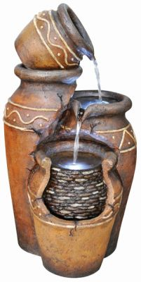 Sicilian Jugs Water Feature with Lights