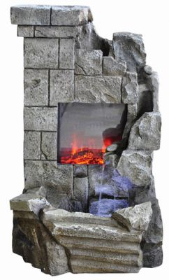 Chimenea Falls Water Feature with Lights