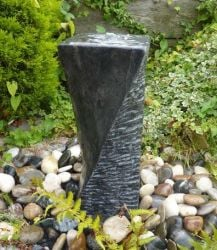 Black Twist Fountain- Water Feature