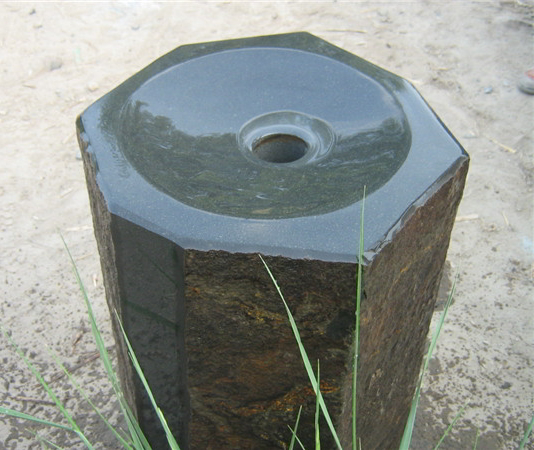 Basalt Fountain Polished Dished Top- Water Feature
