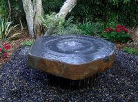 Babbling Basalt Fountain with Polished Dish Top - 80cm