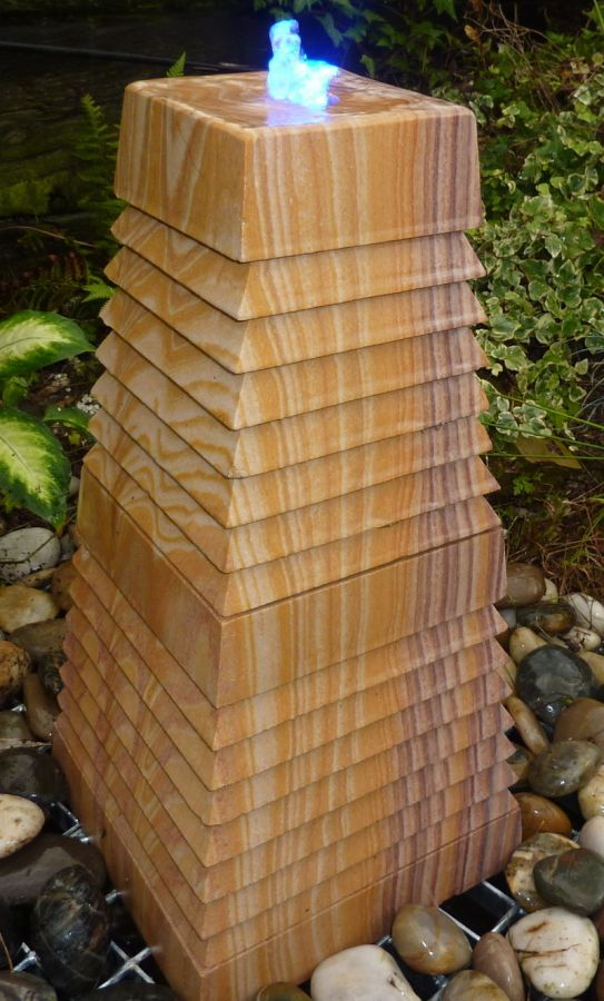 Rainbow Cascading Tower Water Feature