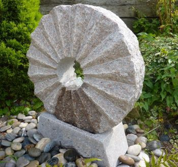 Rising Sun Fountain with Base Pinky Granite- Water Feature