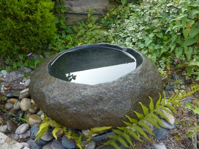 60cm Natural Basin Bird Bath