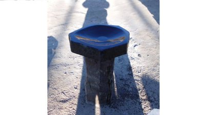 1m Basalt Bird Bath