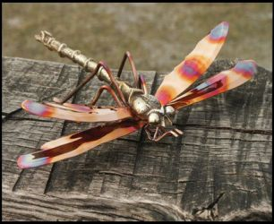 Medium Dragonfly Copper Pond Ornament