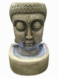 Classic Buddha Head Water Feature with Light