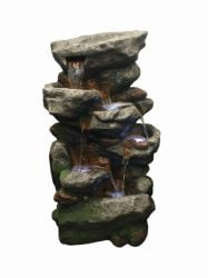 Multi Rockfalls Water Feature with Light
