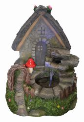 Fairy House Water Feature with Light