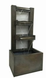 Bergamo Zinc Metal Water Feature with Light