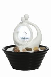 H17cm Avellino Table Top Indoor Water Feature with Light