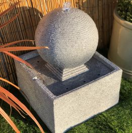 30cm Zen Rippling Sphere Water Feature