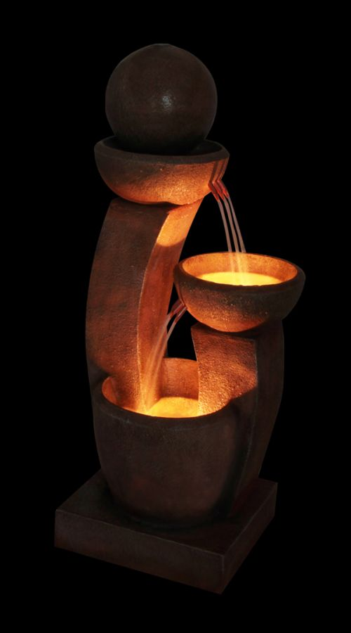 Friendship Fountain Water Feature with Lights - H109cm by Ambienté