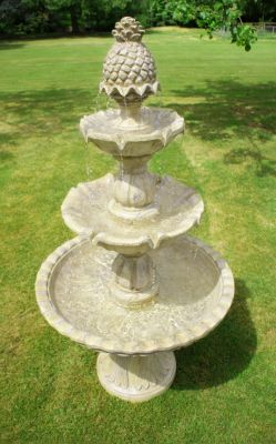 1.5m Antique Effect Regal 3 Tier Fountain