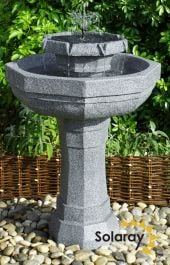 75cm Castille Solar Bird Bath Water Feature with Lights by Solaray™