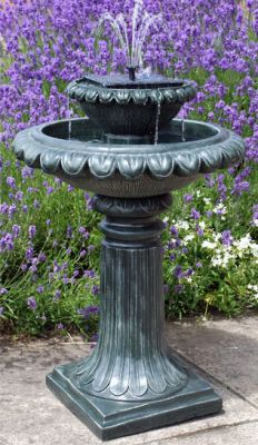 Victoriana Solar Bird Bath Water Feature with Lights (H79cm) by Solaray�