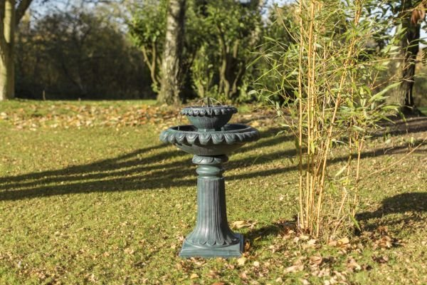 79cm Victoriana Solar Bird Bath Water Feature with Lights by Solaray™