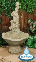97cm Liliana Water Feature Figurine in Pearl - by Ambienté™