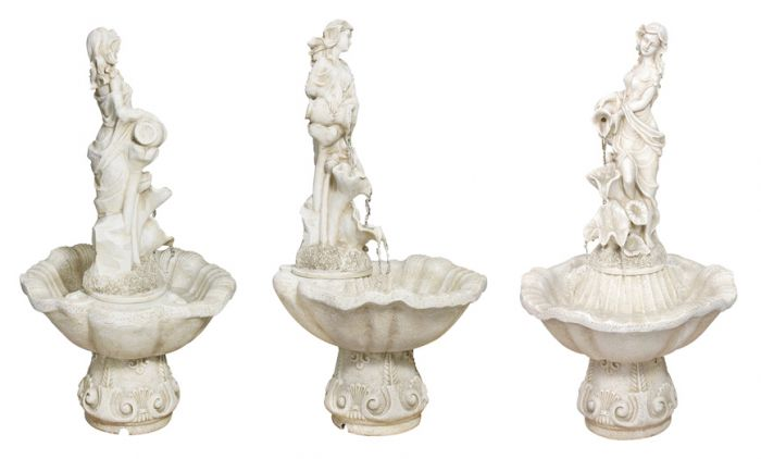 H97cm Liliana Water Feature Figurine in Ivory by Ambienté™