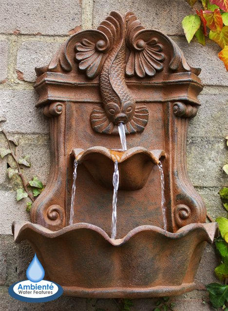H40cm Wall Fish Fountain Water Feature by Ambienté™