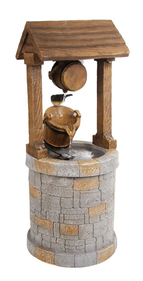 Solar Powered Wishing Well Water Feature by Solaray�