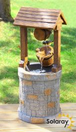 74cm Solar Powered Wishing Well Water Feature by Solaray™