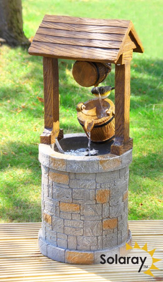 H74cm Solar Wishing Well Water Feature by Solaray