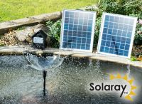Solar Water Pump Kit - 1550LPH with LED lights and Battery Back Up by Solaray�
