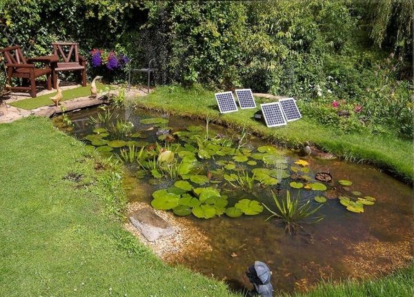 Solar Water Pump Kit 1550LPH with LED lights and Battery Back Up