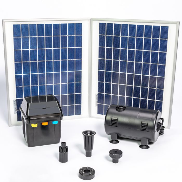 Solar Water Pump Kit 1550lph With Led Lights And Battery