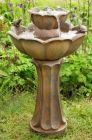 Petal Bird Bath Rust Effect Water Feature